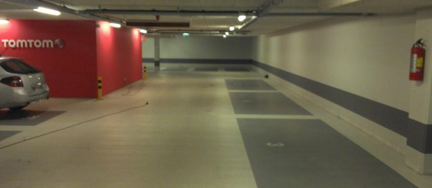 Betonvloer parkeergarage